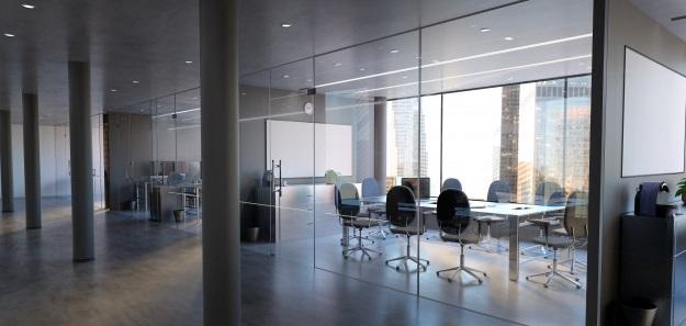 maqueta pared sala oficina vidrio 3d rendering 110893 8 2