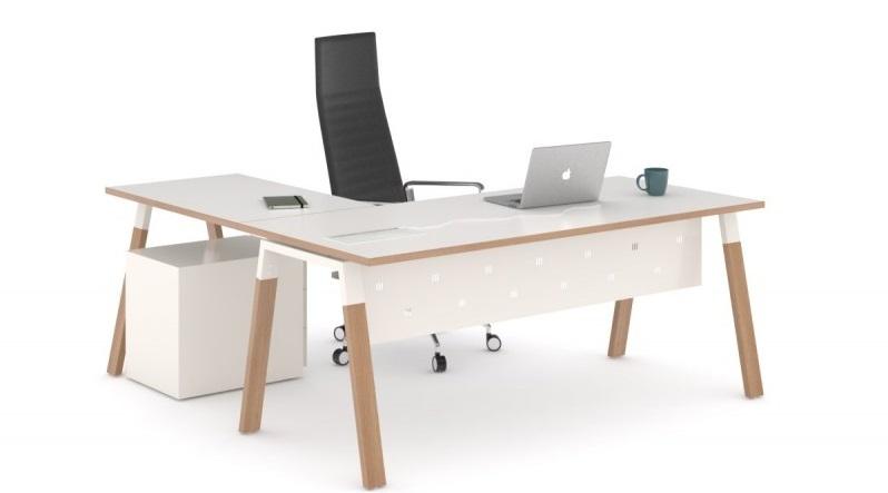 mesa de oficina modelo venus madera con ala